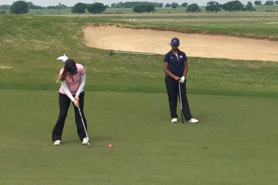 Senior McGarrh is a member of the girls' varsity golf team.