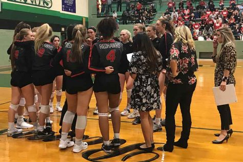Neither love nor joy as Leopards end Redhawks volleyball season