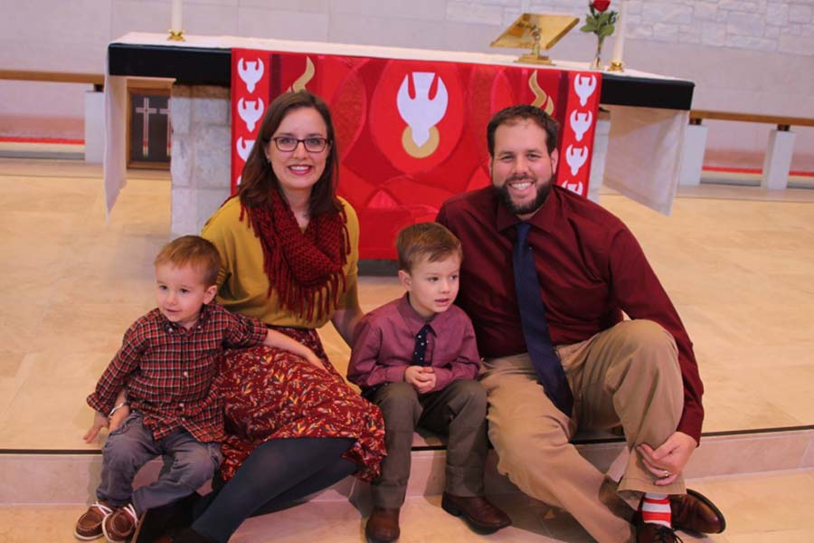 Planning on taking advantage of Student Council's Teacher's Night Out, social studies teacher Sarah Wiseman and her husband Jeff intend to drop off their children Samuel and Warren for a night out Monday from 5-8 p.m.