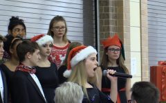 Songs fill the cafeteria during choir's winter concert