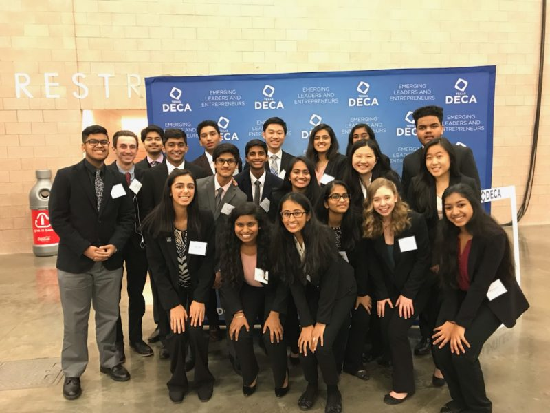 14 DECA students, along with coach Chris Ham, are spending Tuesday-Thursday in downtown Dallas for the state DECA conference.