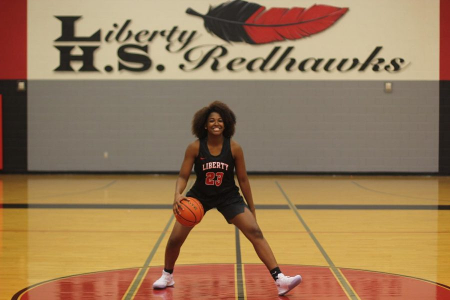 After suffering two knee injuries her sophomore year,  junior Randi Thompson has participated in 12 games since she was released to play on December 11.   With a dream of playing at USC, Thompson is working her way back into shape as the Redhawks gear up for a playoff run.