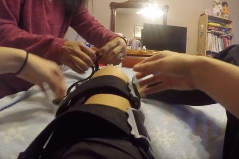 MLA: Student on crutches