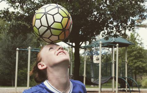 Katie Stoker is a sophomore on the girls' varsity soccer team