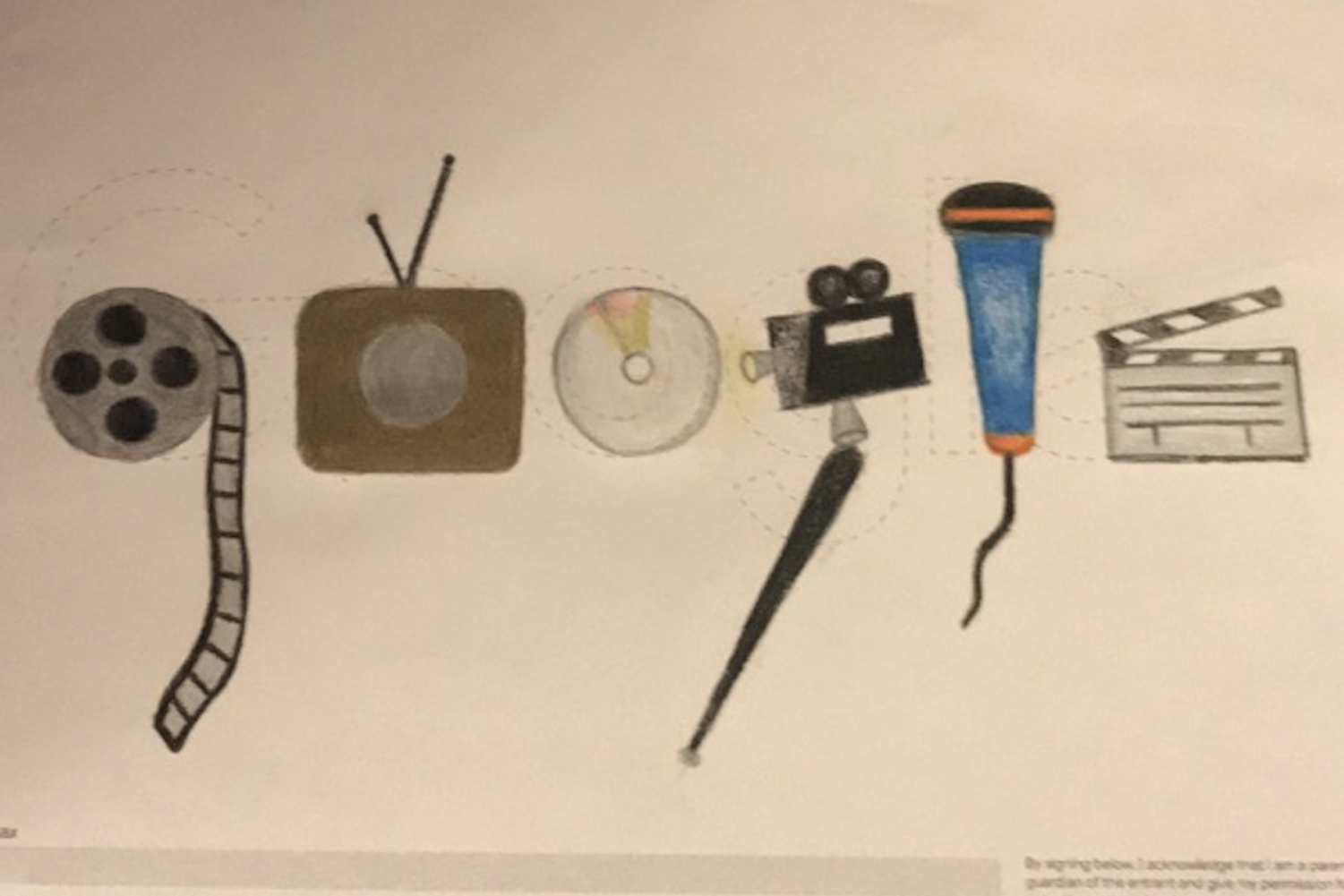 Art 1 students tasked with creating a doodle for Google. For WTV Executive Producer Neha Perumalla, broadcast journalism provided her inspiration.
