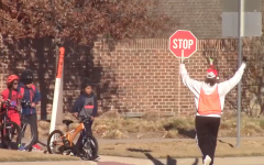 Crossing guard livens up journey to and from school
