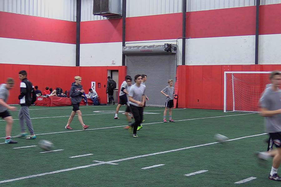 Even though the soccer season is still months away, both the boys' and girls' teams are getting ready with tryouts and making cuts.