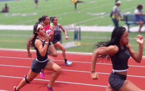 Sophomore Andrea Leyva-Montiel follows in the footsteps of her sister, Gaby, in her fourth year running.