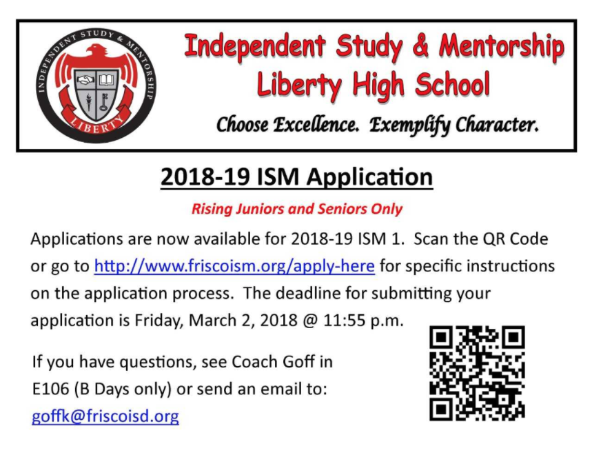 ISM+applications+are+now+available+for+rising+juniors+and+seniors+interested+in+shadowing+a+mentor+in+a+field+of+their+choice.+