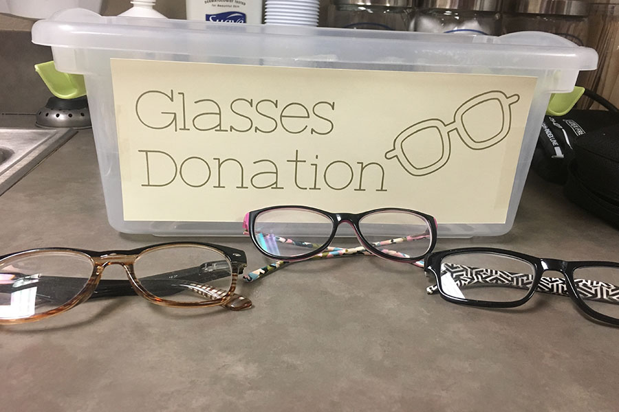 "Eyeglass donations can be dropped off in the nurse's office until March 30.  ""They need to be regular glasses, they just can't be sunglasses,"" junior Sathya Balakumar said. ""Let's say you had glasses and switched to contacts for example, like you have the full credit you don't use or your prescription has changed, you just need the actual frame and not actually the lense itself. We don't want plastic or like 3D lenses because you can't actually use that to help people, but just regular eyeglasses."""