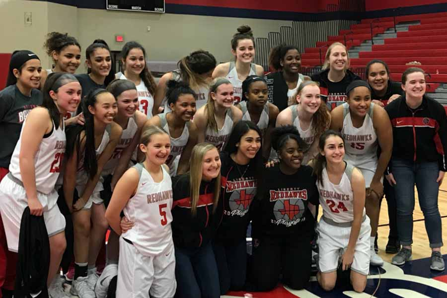 Finishing second in District 13-5A, the girls' basketball team kicked off the 2018 playoffs with a 51-42 win over McKinney North on Monday night.