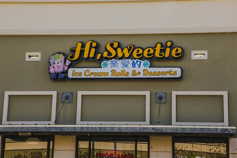 Hi Sweetie offers a plethora of desserts that includes its specialty, rolled ice cream.