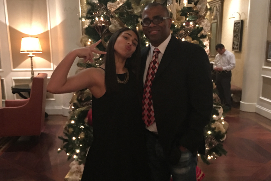 Kierra Lewis pictured with father, Gerard Lewis.