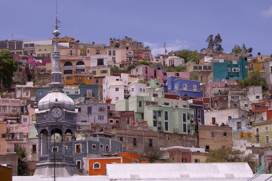 Color along the mountainside added character to Guanajuato.