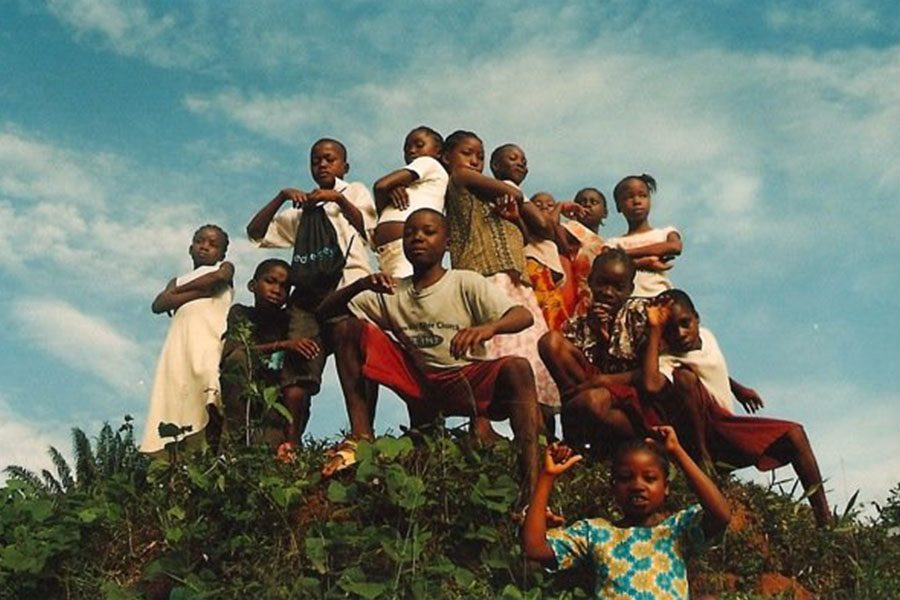 Reedy captured a quick photo of a class in Ganta, Liberia.