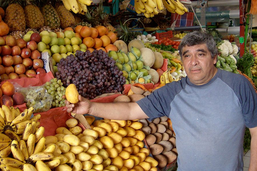 Reedy stopped by a local market in his journey throughout Mexico.