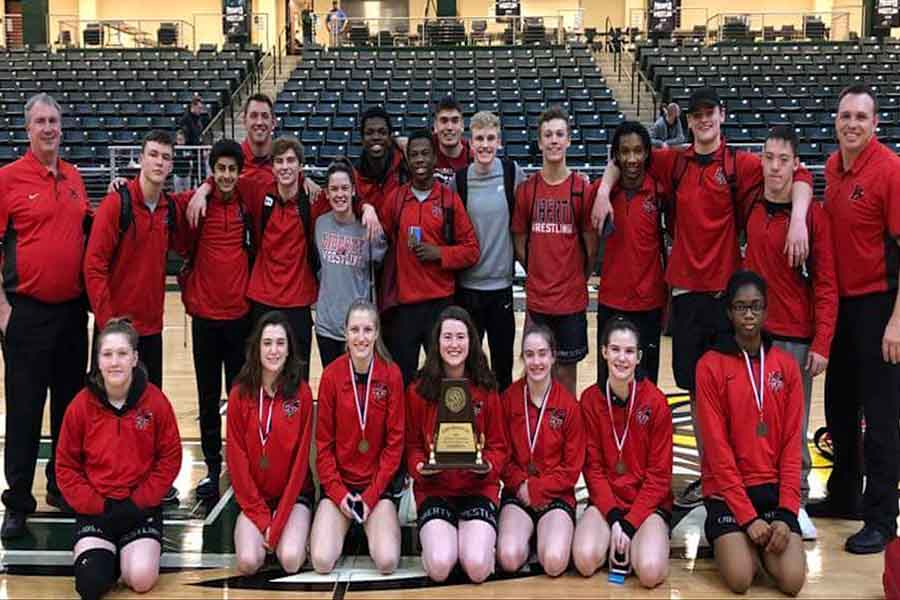 Both the boys' and girls' wrestling teams are sending seven wrestlers to this weekend's regional tournament at Independence High School. The girls' team won the District 8 championship with the boys' team taking third.