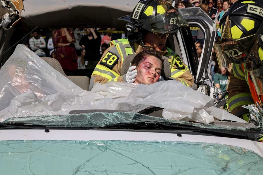 Mock accident designed to prevent the reality of Shattered Dreams