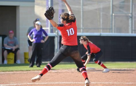 Senior Laurel Glatch in her tenth year playing softball, is verbally committed to play for Ouachita Baptist University in the fall.