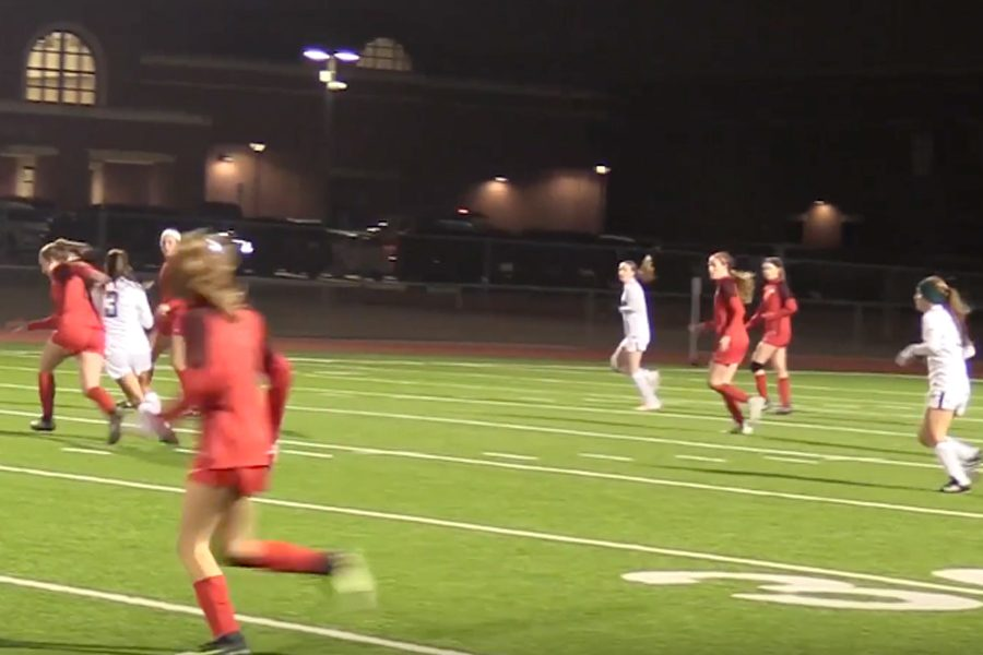 The+girls%27+varsity+soccer+team+won+against+Frisco+High+School+1-0+Tuesday+night.
