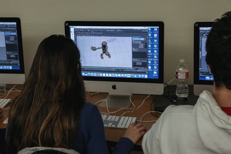 Straying away from a traditional animation class, dance and animation decided to work todether. Combining dance and animation, classes work to illustrate dance routines with how-to videos.