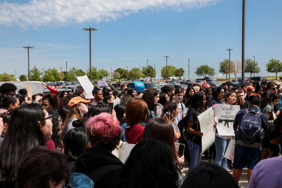 Many students walked out during advisory on Friday, April 20, 2018 as a part of National School Walkout Day.