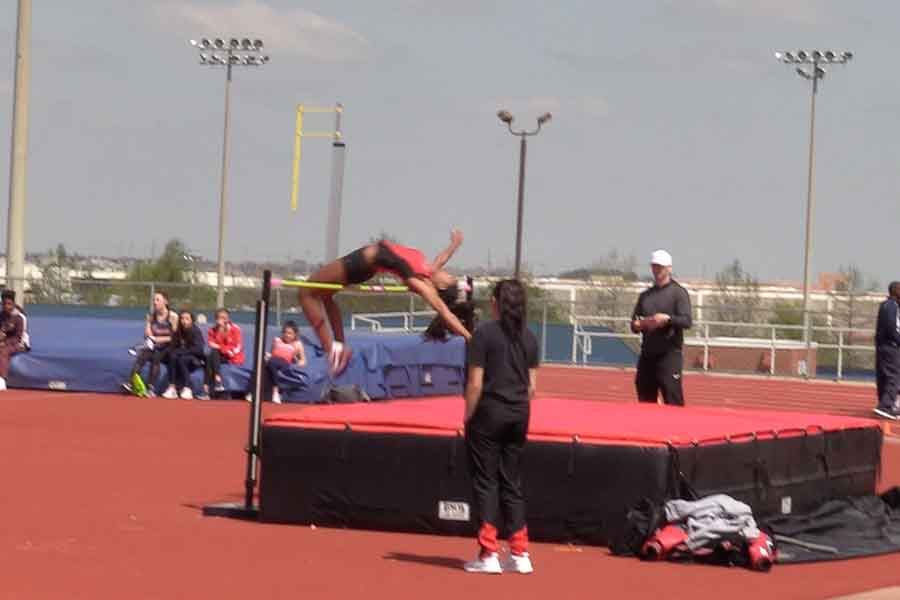 Placing first in the high jump, senior Nissi Kabongo took the spotlight at the Jesuit-Sheaner Relays on Friday and Saturday. Preparing her for bigger events, Kabongo readies herself for the annual Texas Relays in Austin on Friday.