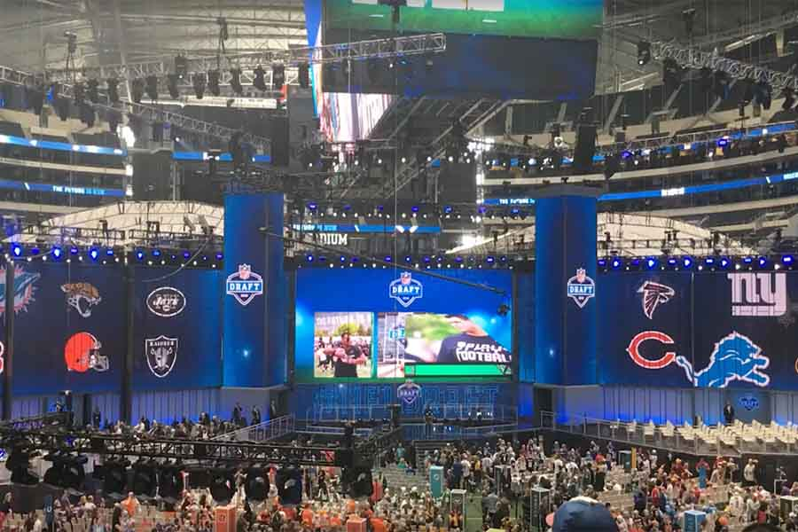 At the 2018 NFL Draft in Dallas, several teams began the process of selecting players.