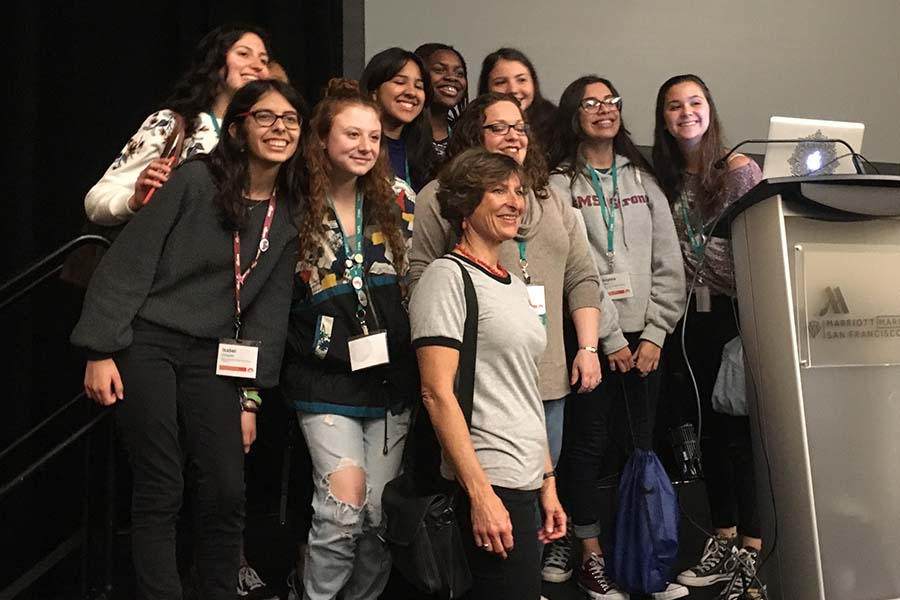 Members of the Stoneman Douglas yearbook staff presented a session on covering a tragedy at the JEA/NSPA National High School Convention on Friday.