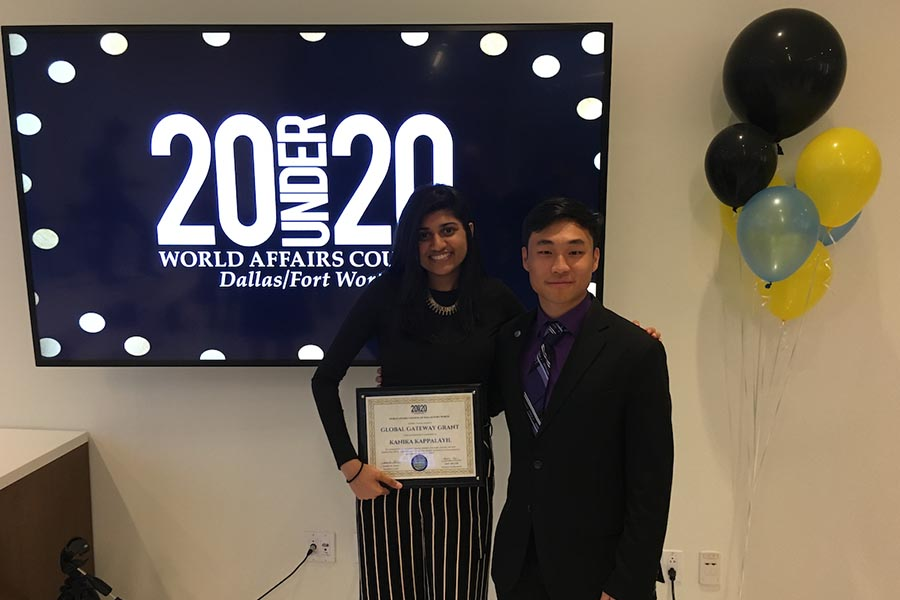 Juniors Kanika Kappalayil and Chris Yu were two of the 20 recipients of the 20 Under 20 award.