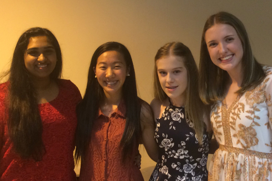 Four Redhawk choir students (Merlyn George, Jessie Rho, Megan Guidry, and Jessica Gordon) took part in the UIL state solo and ensemble competition in Austin on Saturday with George, Guidry, and Gordon receiving the highest score of 1, and Rho receiving a 2.