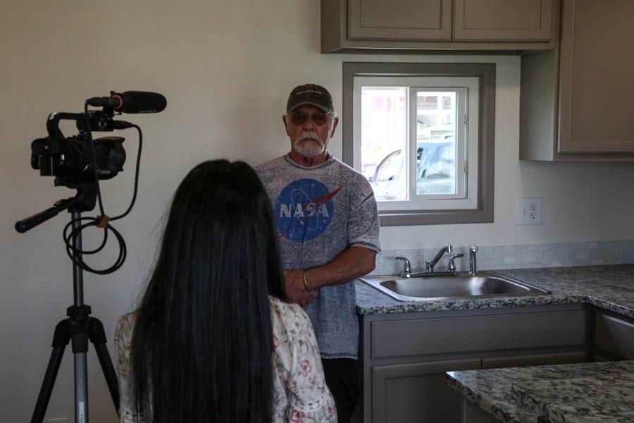 WTV's Neha Perumalla interviewing veteran Jim Davidson, the father of golf coach Adam Davidson.
