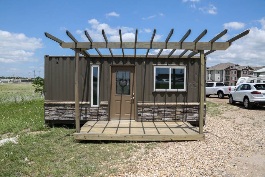 The front of the prototype housing unit.