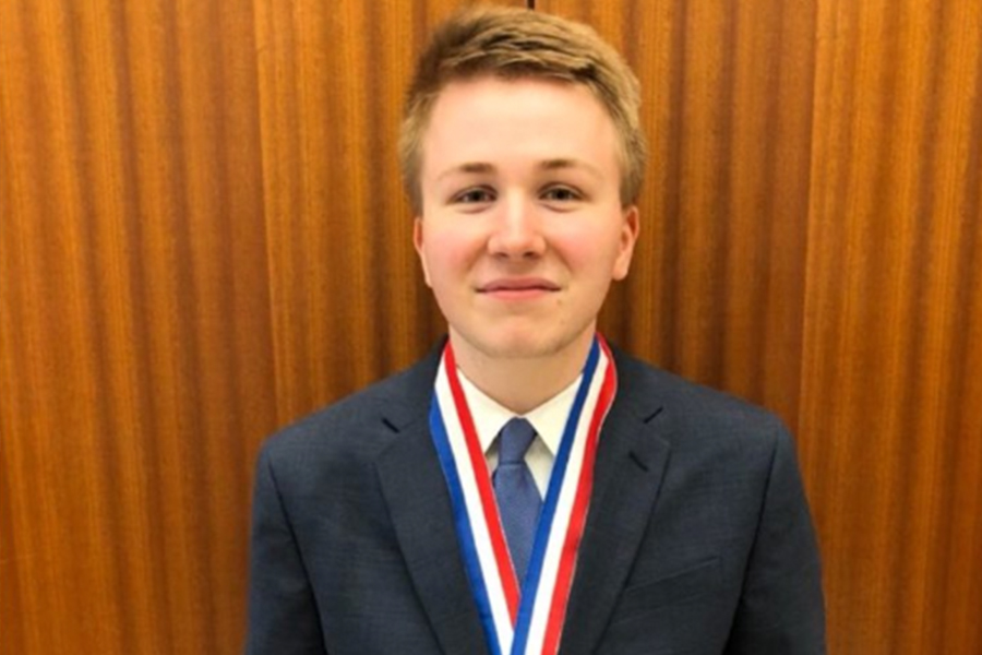 Senior Parker Butler captured the championship at the UIL state competition in Austin on Tuesday.