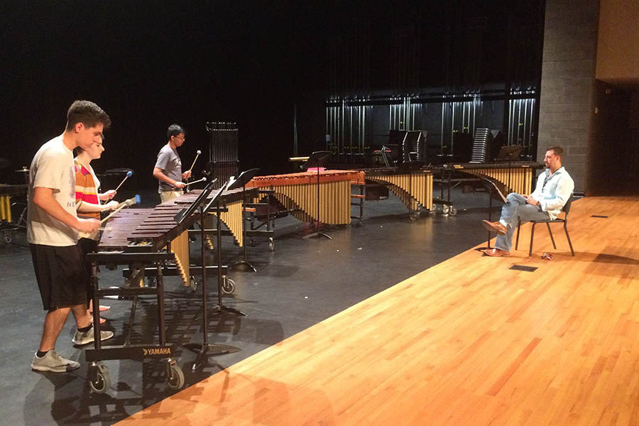 From band concerts to a theatre musical, the fine arts department is slated to have a busy fall performance calendar. In addition to concerts and performances, some fine arts groups perform at all football games.