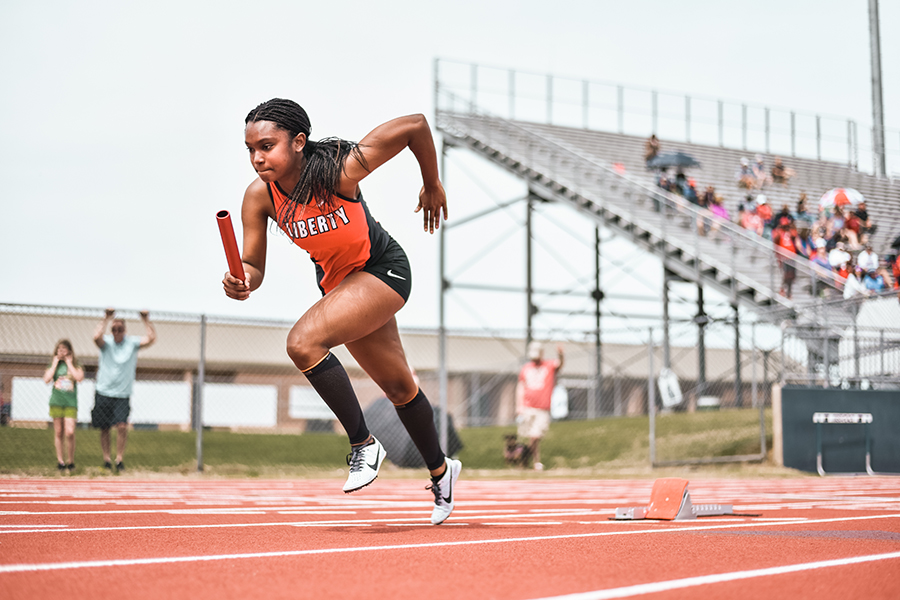 Playing a role in her achievements during the school track season, junior Keke Hackett joined a track team for summer break.