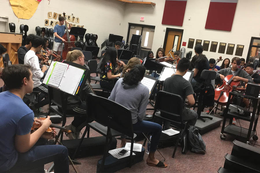 After countless rehearsals, Orchestra put their skills to the test while entering state's TMEA Honor Orchestra Competition coming out with a second place finish.