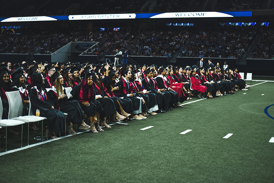 Graduation will take place at The Ford Center at The Star at 7:00pm. In addition, the ceremony will feature speeches from the valedictorian, salutatorian, and the student body president.