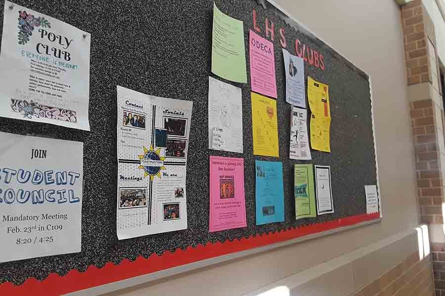 Students interested in joining a club on campus can find information on the bulletin board in the hallway leading to and from the main entrance. In addition to the bulletin board, the school is hosting a club fair on Sept. 25.