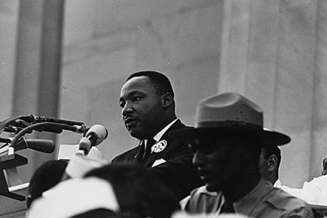 "Standing in front of the Lincoln Memorial in Washington, D.C. on August 28, 1963, delivered his ""I Have a Dream Speech"" in front of approximately 200,000 people gathered for the Civil Rights March."