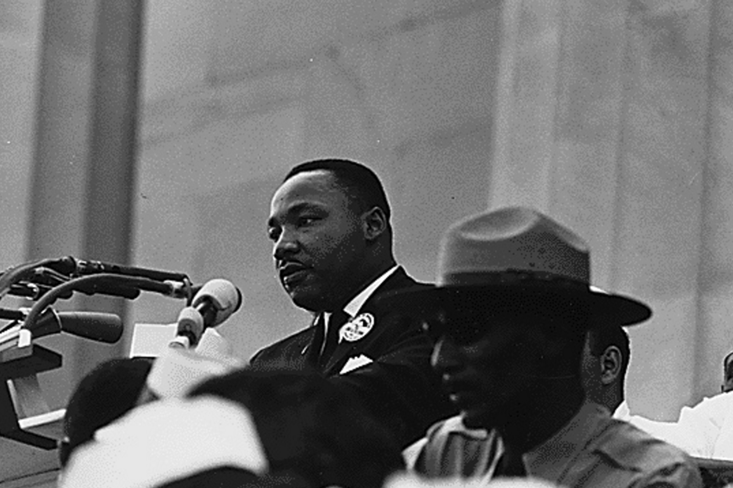 Standing in front of the Lincoln Memorial in Washington, D.C. on August 28, 1963, delivered his