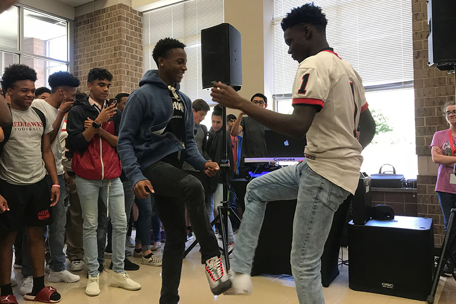 Part of the planning done by Pop Parties was a lunch time dance off. The use of a professional party planner was made with such a short time between the start of school on August 16 and the dance Saturday night.