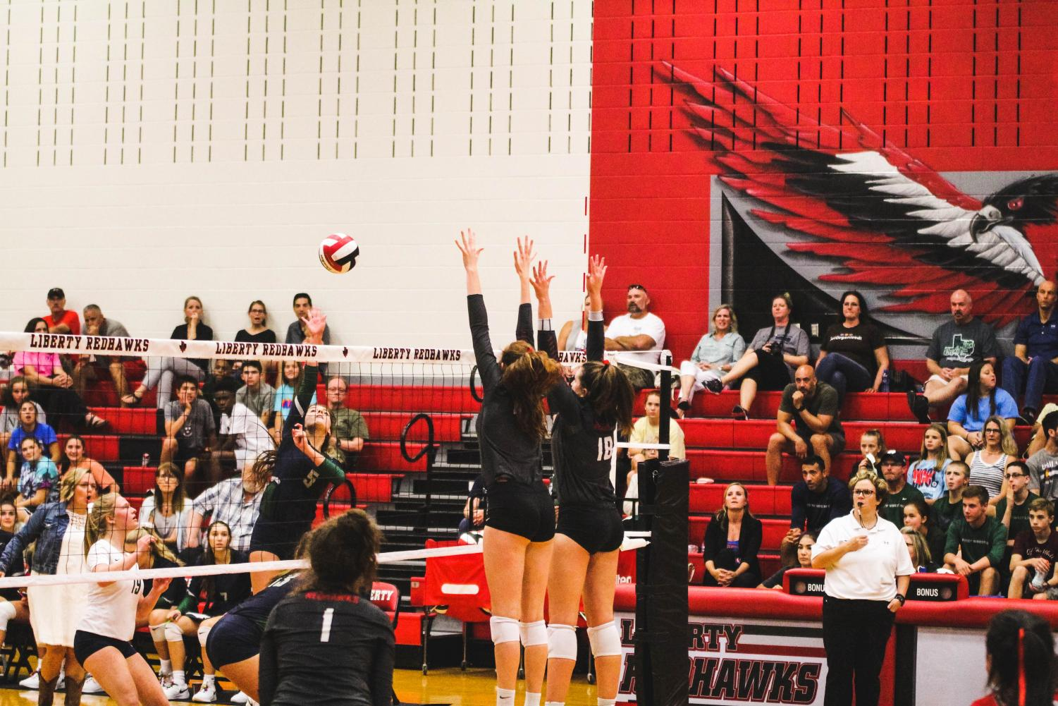 After losing its first district game of the year, the volleyball team goes for its seventh straight win Tuesday at it takes on Heritage.