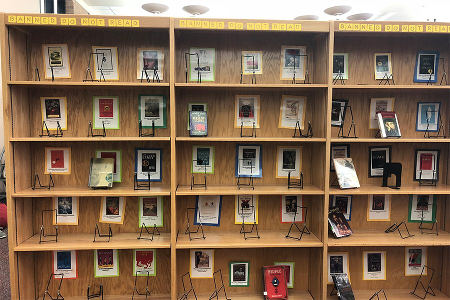 From 1982, banned book week honors the first amendment. Here on campus, the library is honoring this week by putting out banned books for students to check out.