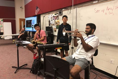 Band students auditions for state jazz assemble