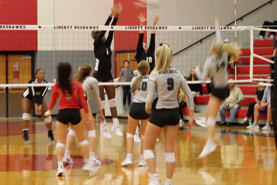 Playing the Warriors for the first time since Memorial High School opened in August, the Redhawks took the match 3-0 on Tuesday night. The win leaves the Redhawks with a 3-1 record in District 9-5A.