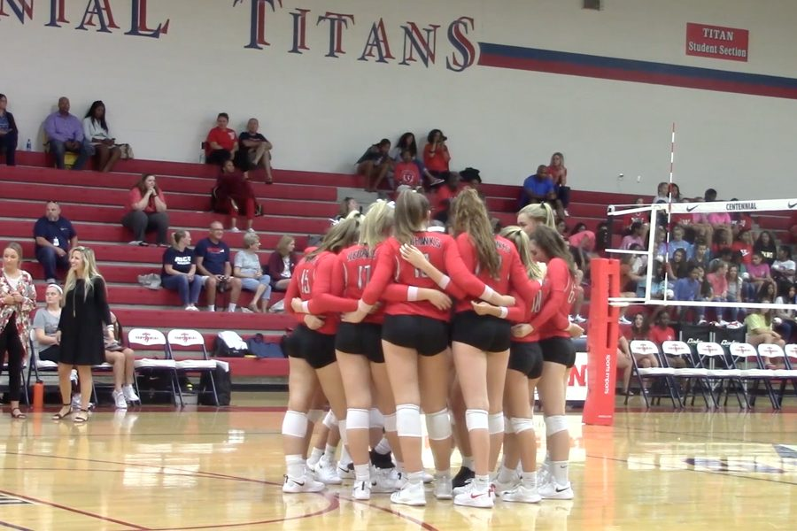 Taking+on+the+Coppell+Cowboys%2C+the+Redhawks+secured+their+win+3-1+on+Friday%2C+Aug.+26.+Not+looking+promising+after+losing+the+first+set%2C+the+Redhawks+came+back+in+the+next+3+sets.