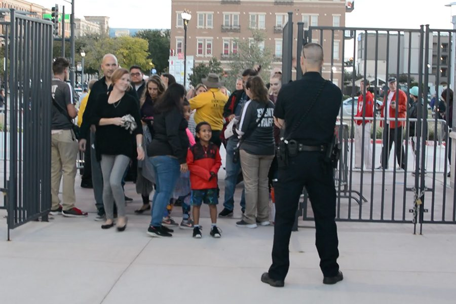Fans enter Toyota Stadium at the south end near the newly built National Soccer Hall of Fame. In addition to the 2018 induction ceremony, Saturdays grand opening featured a concert by the Imagine Dragons.