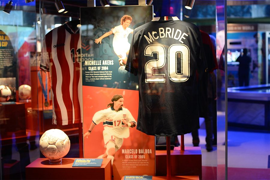 Featuring numerous displays and the jerseys of famous American soccer players, the National Soccer Hall of Fame features 19,350 square feet of exhibits.
