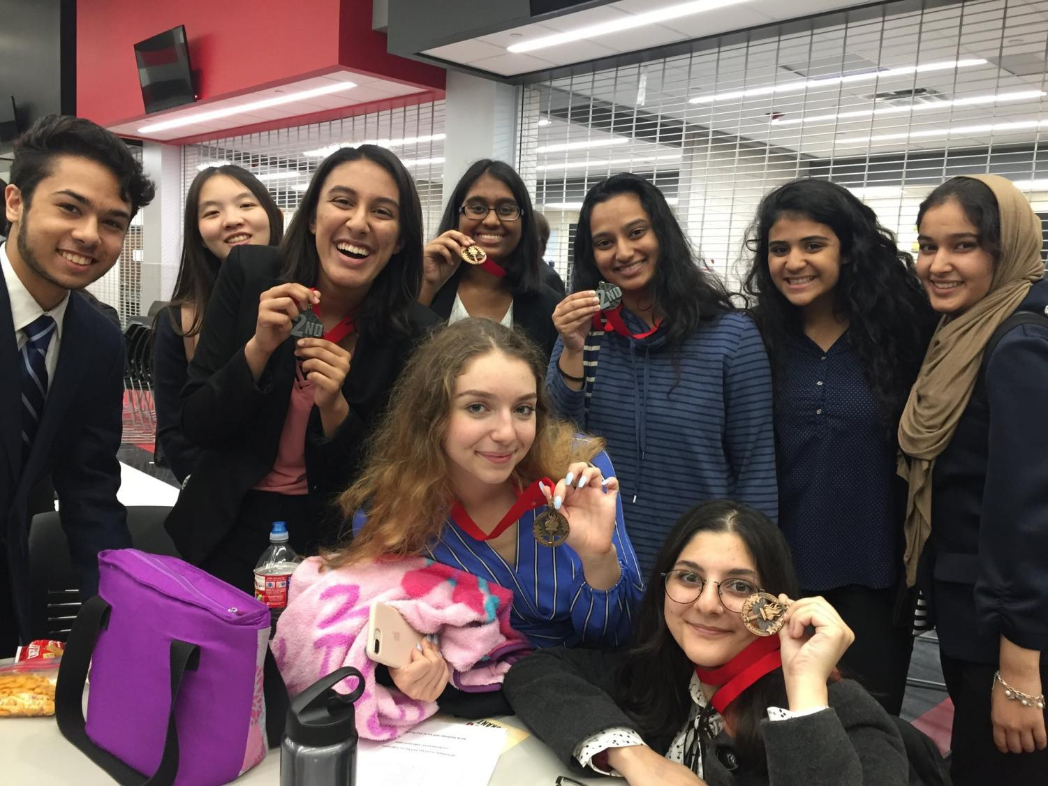 Having spent months preparing for its competitions, the school's debate team medaled in all categories in Melissa.